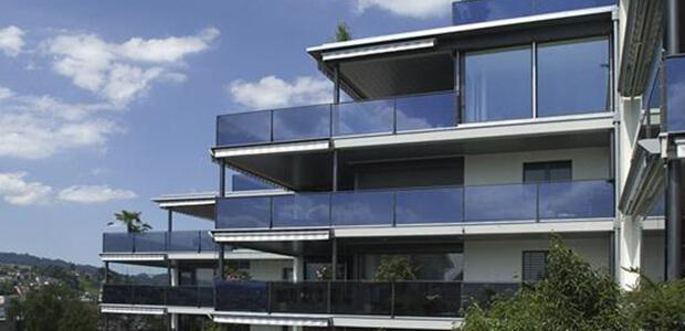Verglasung am Haus in München